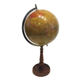 Warm Tone Globe on Pedestal