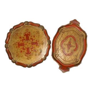 Vintage Florentine Trays - A Pair