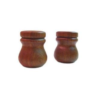 Teak Salt and Pepper Shakers - Pair
