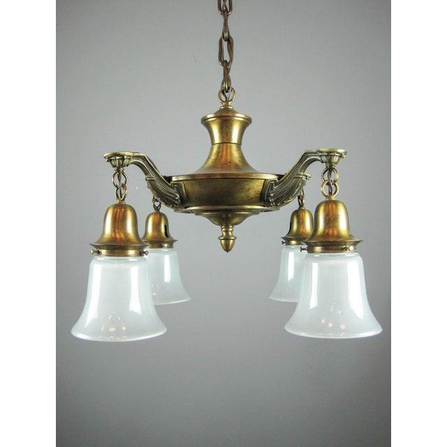 Antique Pan Light Fixture (4-Light) - Image 4 of 6