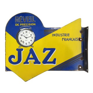 Porcelain Jaz French Clockmaker's Trade Sign