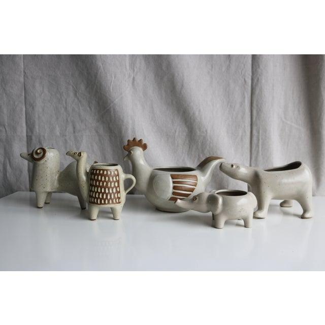 David Stewart Ceramic Animal Planters - Image 5 of 8