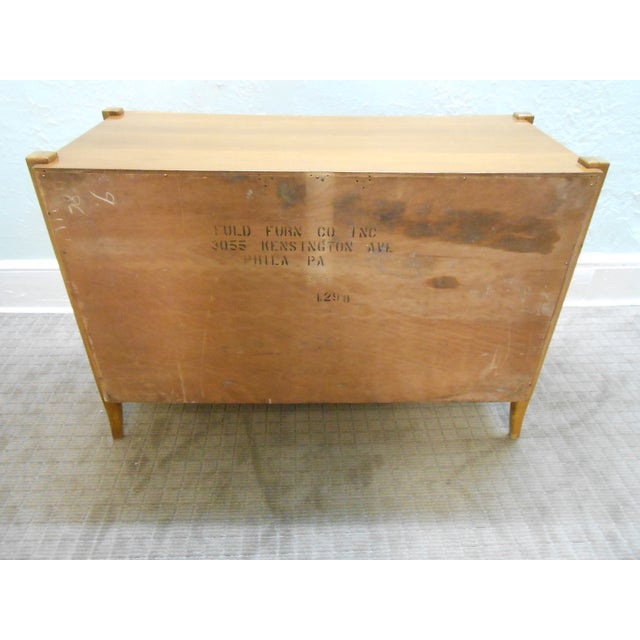 Williamsport Mid Century Reverse Bow Commode Chest - Image 8 of 10