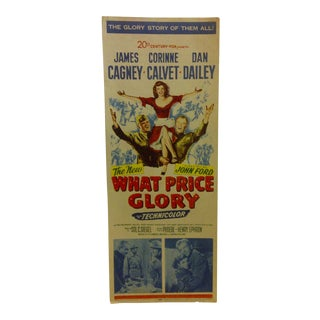 """Vintage Movie Poster the New """"What Price Glory"""" James Cagney - 1952"""
