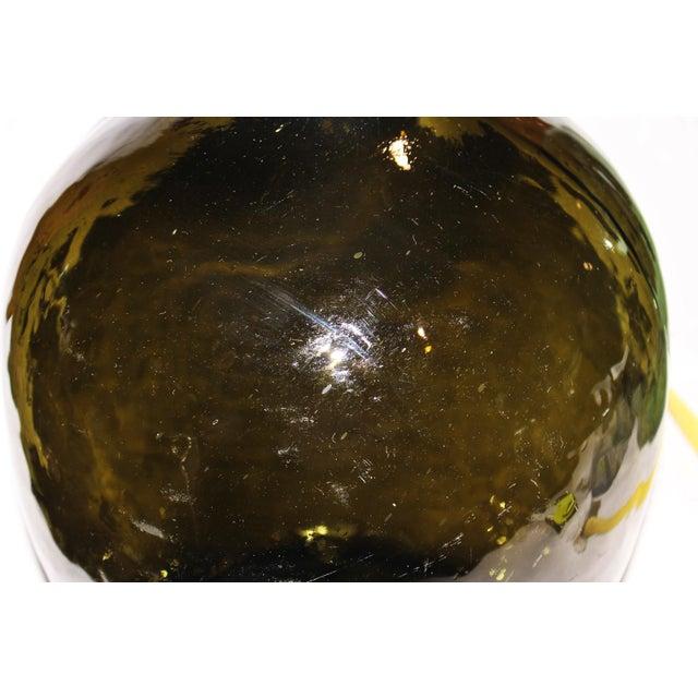 Green Demijohn Blown Bottle - Image 5 of 7