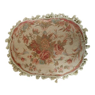 French Floral Petit Point Oblong Pillow