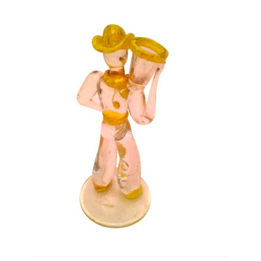 Image of Mid-Century Italian Murano Art Glass Cowboy