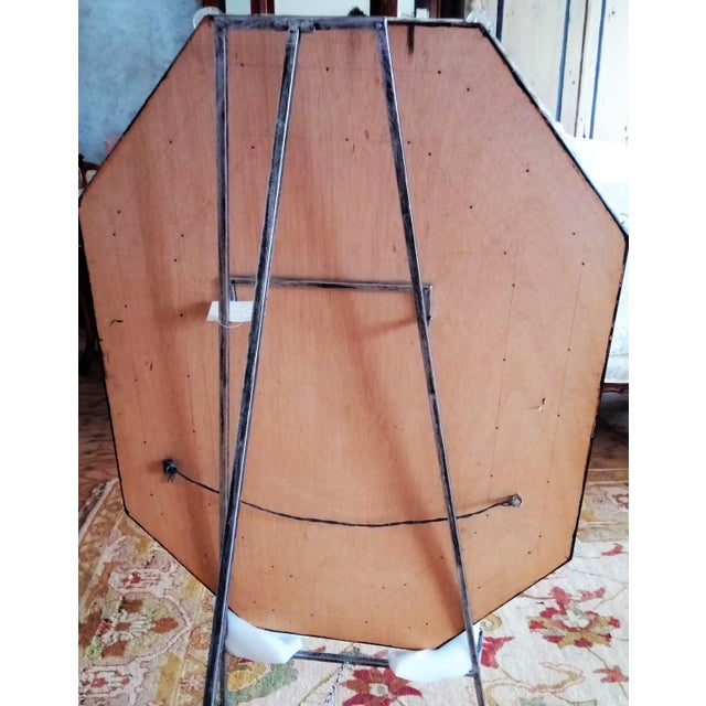 Large Vintage Venetian Etched Octagonal Wall Mirror - Image 3 of 6