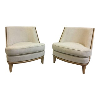 Pair of Exquisitely Restored and Important Art Deco Bergère Armchairs