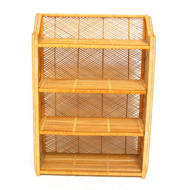 Image of Natural Rattan Bamboo Etagere