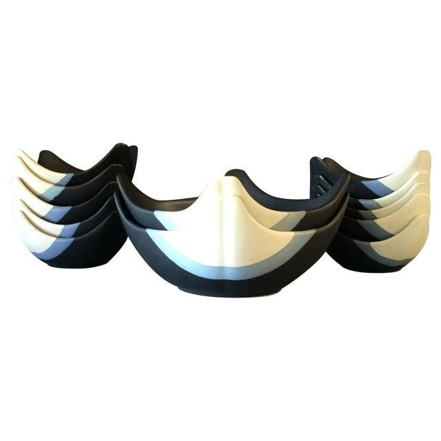 Ceramic Bowl Set - Set of 12 - Image 1 of 10
