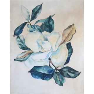 1946 Magnolia Blossom Watercolor