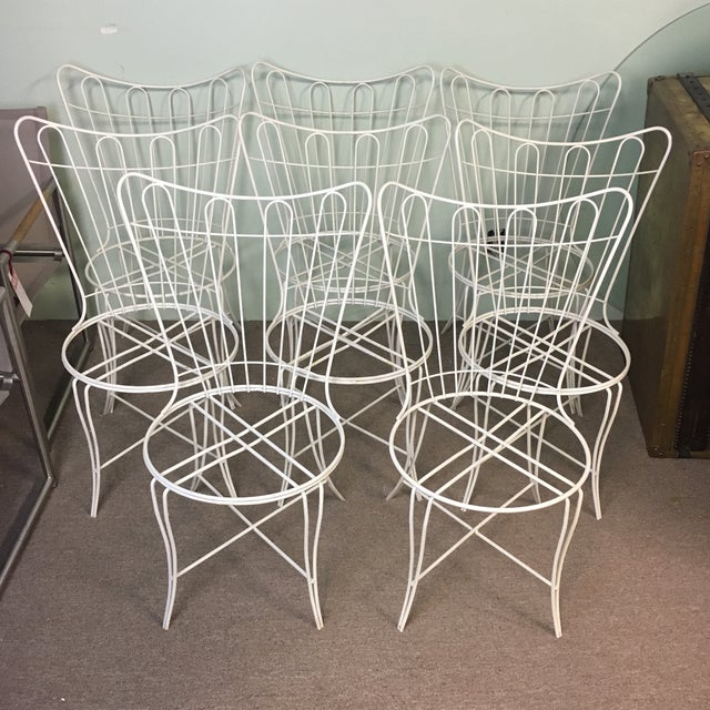 Salterini Wrought Iron Patio Chairs - Set of 8 - Image 6 of 6