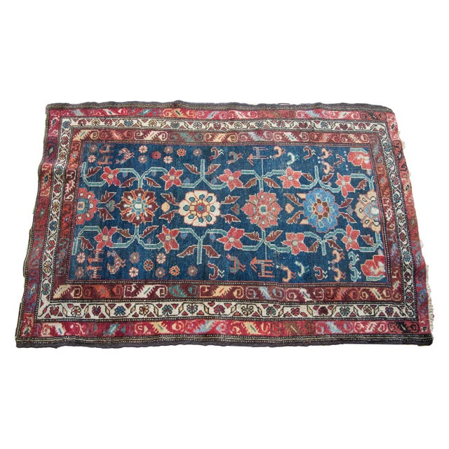 "Blue Vintage Rug - 3' x 4'8"" - Image 1 of 2"