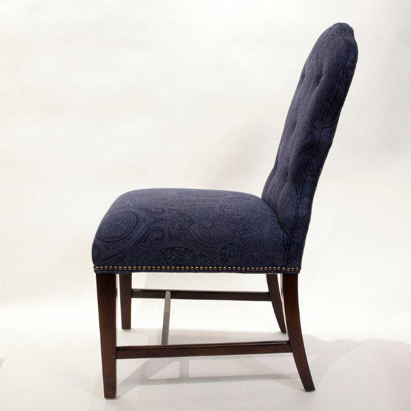 """Image of Tufted Side Chair in """"Big Ruth Paisley"""""""