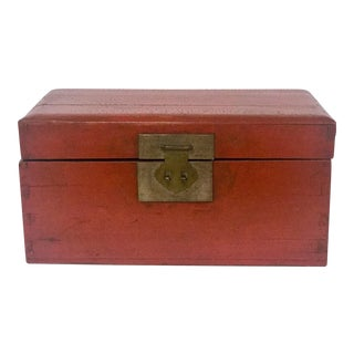 Vintage Asian Red Decorative Box