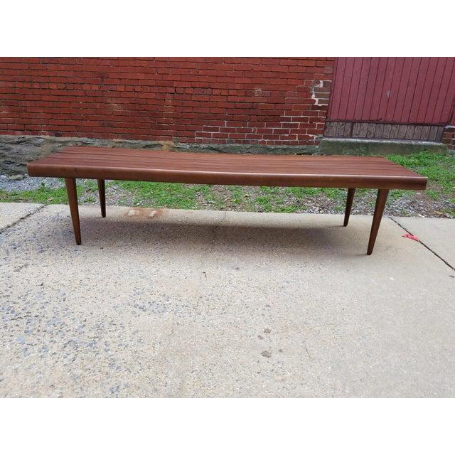 Mid-Century Slat Bench Coffee Table - Image 3 of 7