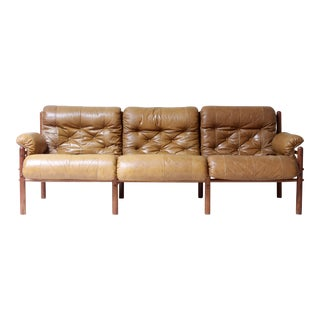 Arne Norell Mid-Century Leather Sofa