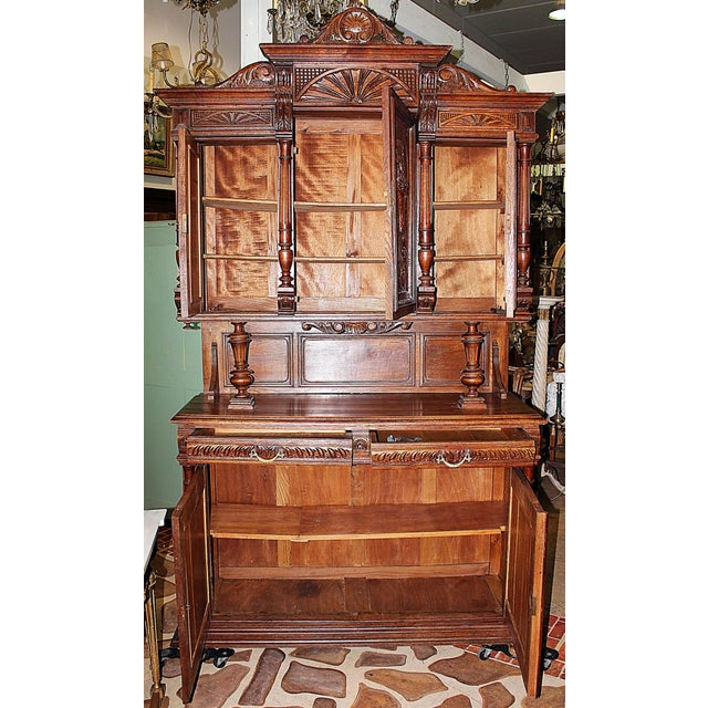 Image of French Rococo Hand-Carved Hutch