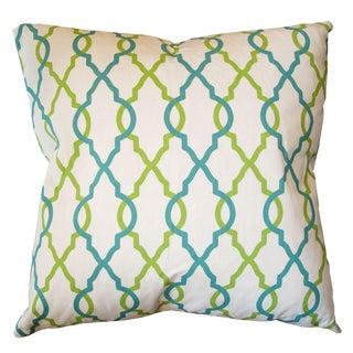 Quatrafoil Print Down Pillow