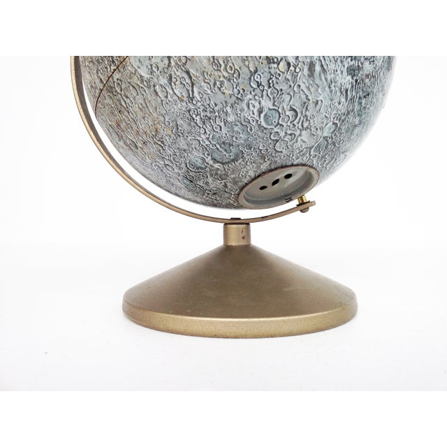 Image of Vintage Tin Moon Globe Bank on Brass Base