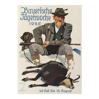 German Hunting Poster, Bayerische Jägerwoche 1925