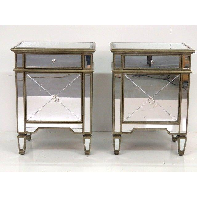 Silvered & Mirrored End Tables - A Pair - Image 2 of 3