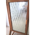 Image of Mid Century Bamboo Mirrored Bar Cabinet