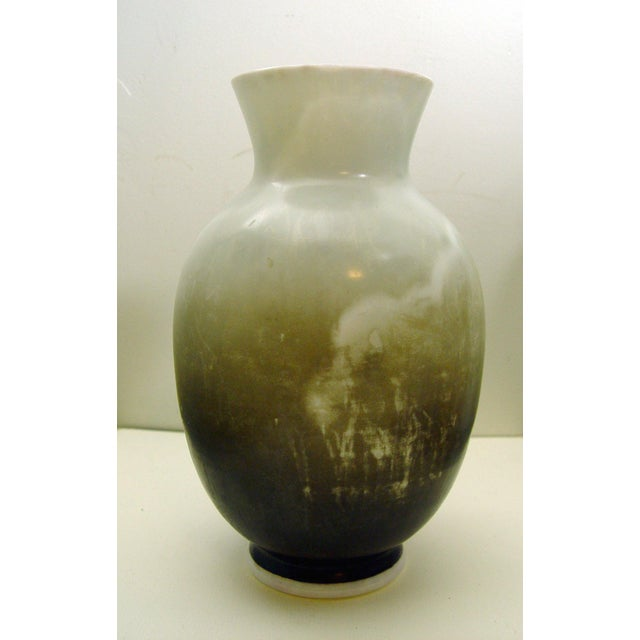 Hand Painted Bristol Glass Vase - Image 3 of 5