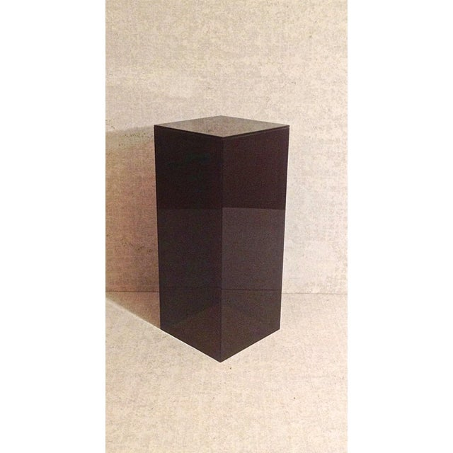Image of Vintage Smoked Lucite Pedestal