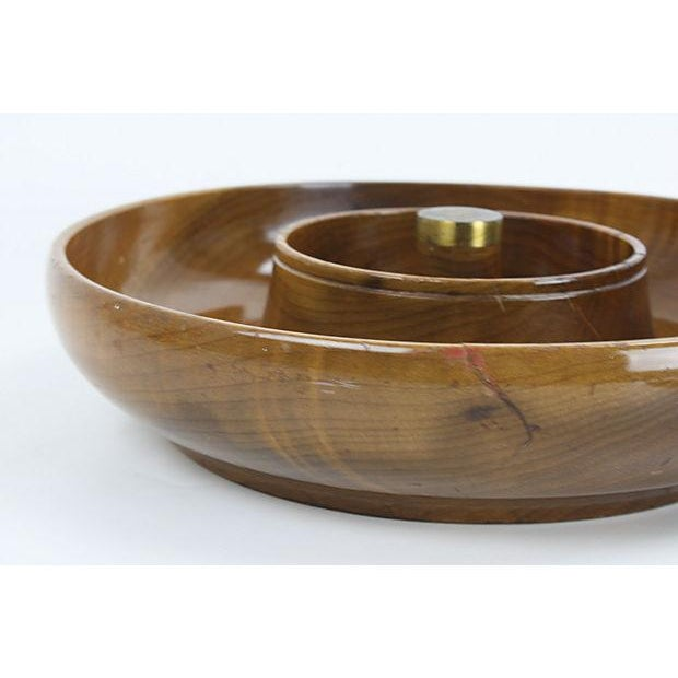 Mid-Century Mod Nut Cracker Bowl in Oregon Myrtle - Image 6 of 6