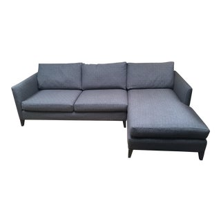 Crate & Barrel Gray Sectional Sofa