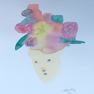 Her Thoughts Bloomed Watercolor