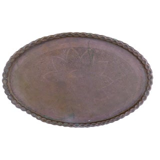 Moroccan Oval Brass Tray