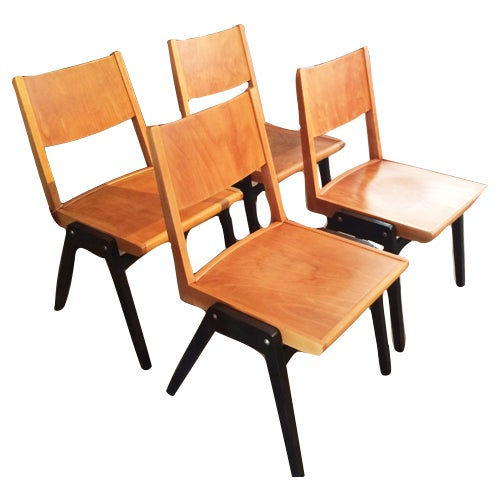 Image of Lubke Stuhl Mid-Century Dining Chairs - Set of 4