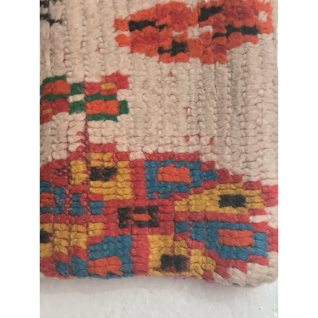 Vintage Moroccan Rug Wool Pillow - Image 5 of 11