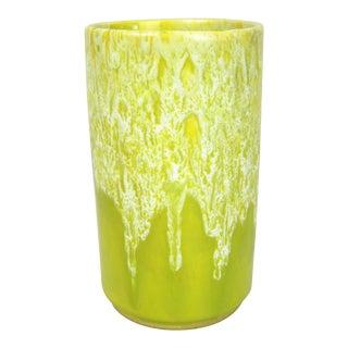Midcentury Lava Drip Glaze Vase