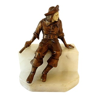 Bronze Pirate Bookend