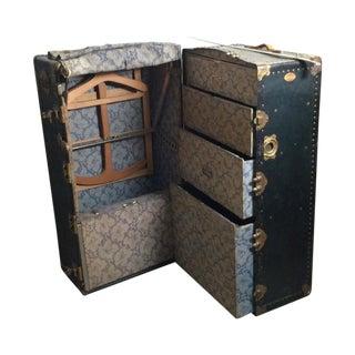 Antique Seward Travel Wardrobe Steamer Trunk