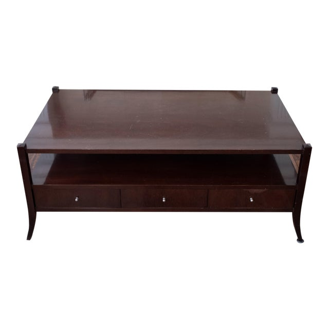 Barbara barry baker coffee table chairish Barbara barry coffee table