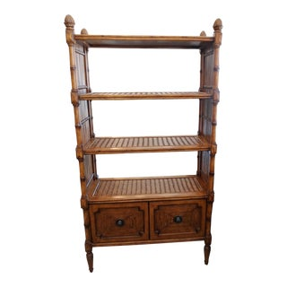 Tommy Bahama Rattan 2 Drawer Bookcase