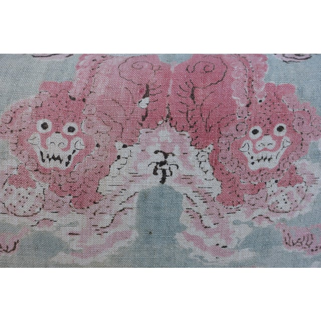 Image of Pair of Chinoiserie Printed Linen Pillows