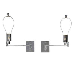 Georg W. Hansen Chrome Swing Arm Wall Mounted Lamps - A Pair