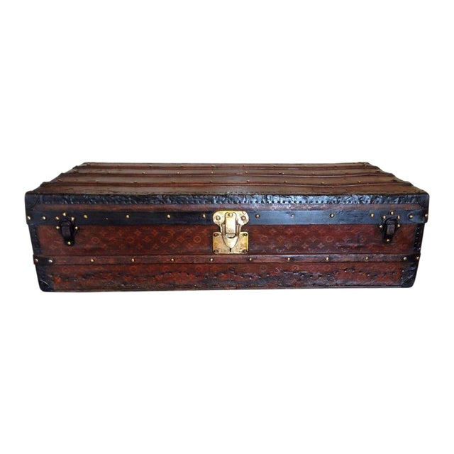 Vintage Louis Vuitton 3/4 Travel Steamer Trunk - Image 1 of 11