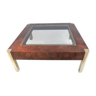 Century Furniture Burl & Brass Coffee Table
