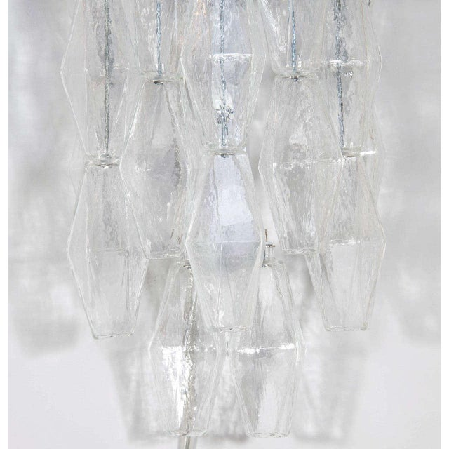 Pair of Spectacular Hand Blown Murano Glass Polyhedral Sconces by Venini - Image 3 of 6