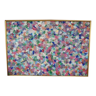 Colorful Abstract Expressionist Oil on Canvas