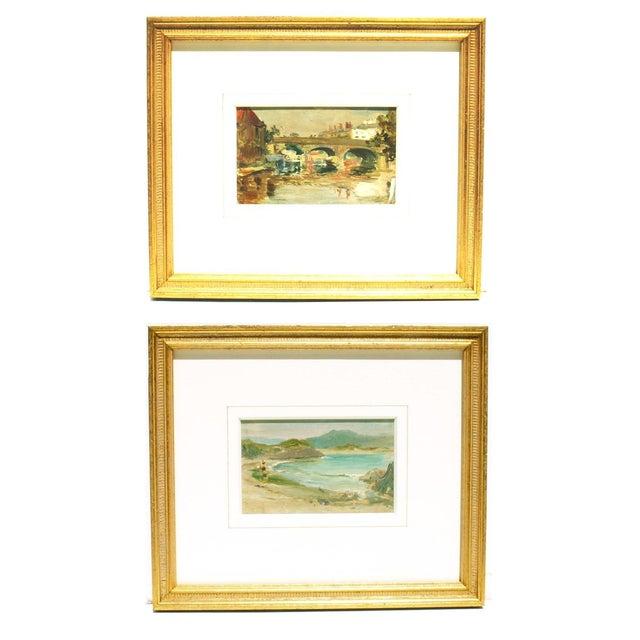 """The Village Bridge"" And ""Derrynane"" - Pair - Image 1 of 5"