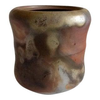 Earthy Artisan Japanese Studio Pottery Vessel