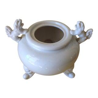 Petite Asian Foo Dog Lion Ceramic Vessel